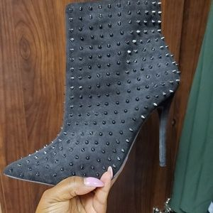 Black spiked booties, never worn